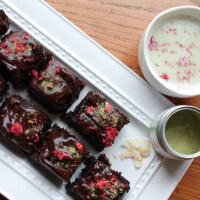 Chocolate Matcha Green Tea + Strawberry Brownies with Tea Forté