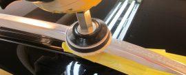 メルセデス ベンツ C200 W メッキモールクリーニング