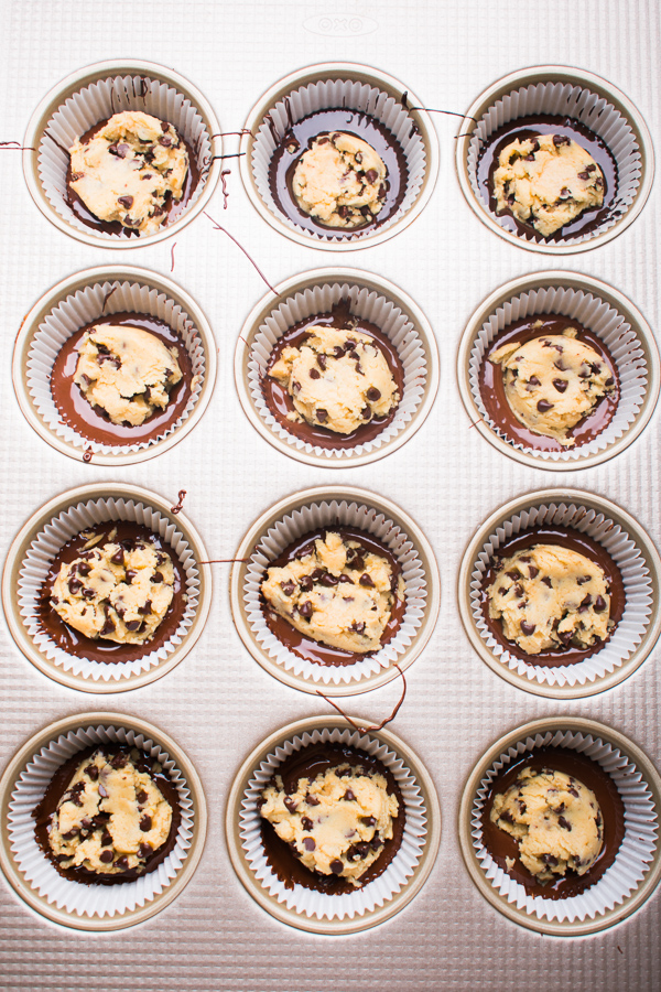 chocolate cookie dough cups