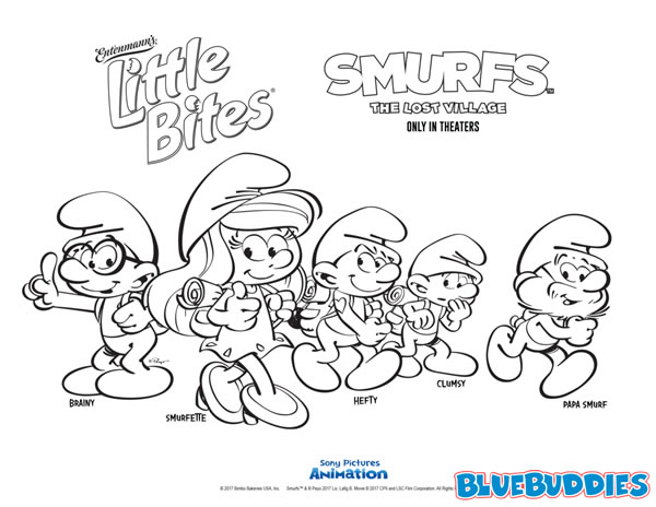 Little Bites of Smurfs!