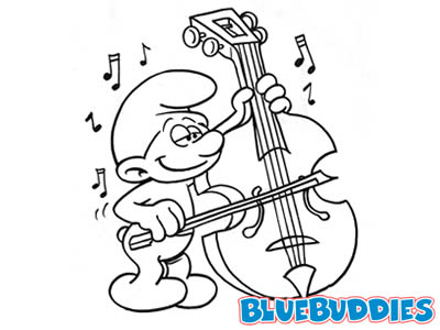 Black and White Smurf Pictures Violin Smurf Cellist Smurf