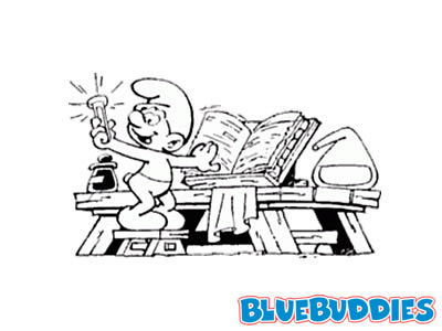 Black and White Smurf Pictures Artist Smurf Chemistry