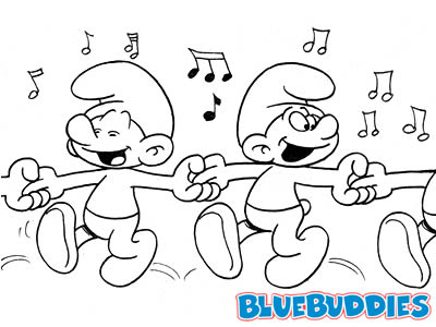 Black and White Smurf Pictures Dancing Smurfs Xylophone