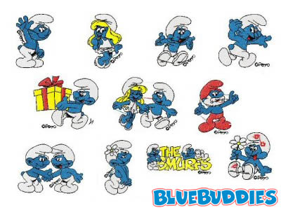 Look at the different Smurf embroidery designs to choose from
