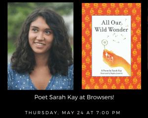 Poet Sarah Kay @ Browsers Bookshop