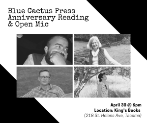 POSTPONED: Blue Cactus Press Anniversary Reading & Open Mic @ King's Books
