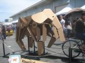 May 17, 2014. Kinetic Cardboard Elephant.