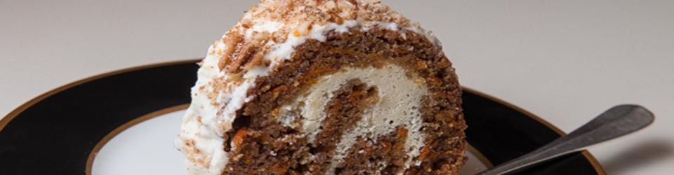 Cream Cheese Stuffed Carrot Cake with Orange Glaze