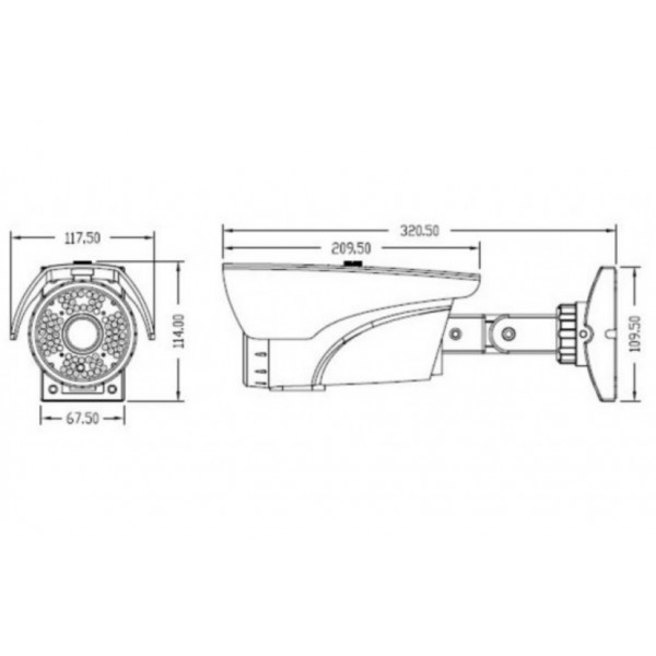 4MP EX SDI Digital HD Long range Bullet IR Camera 2.8-12mm