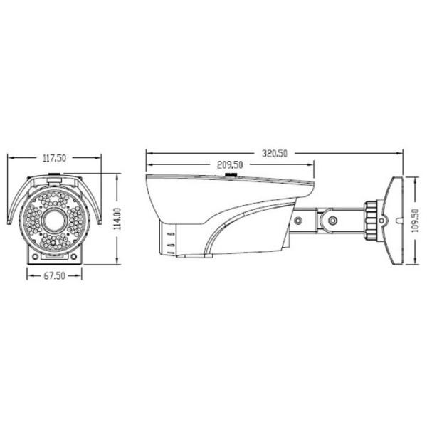 X Series HD 2.4MP Bullet IR Camera 2.8-12mm Dual Video