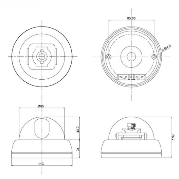CNB D1000N High Sensitive 1/3 SONY Super HAD CCD 380 TVL