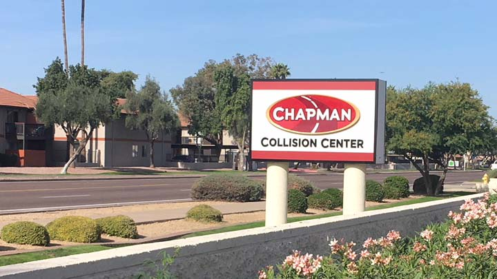 Monument Sign Refresh In Tempe Az For Chapman Automotive