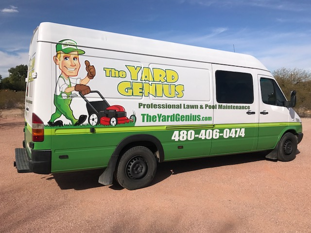New Van Graphics for Scottsdale, AZ Business The Yard Genius