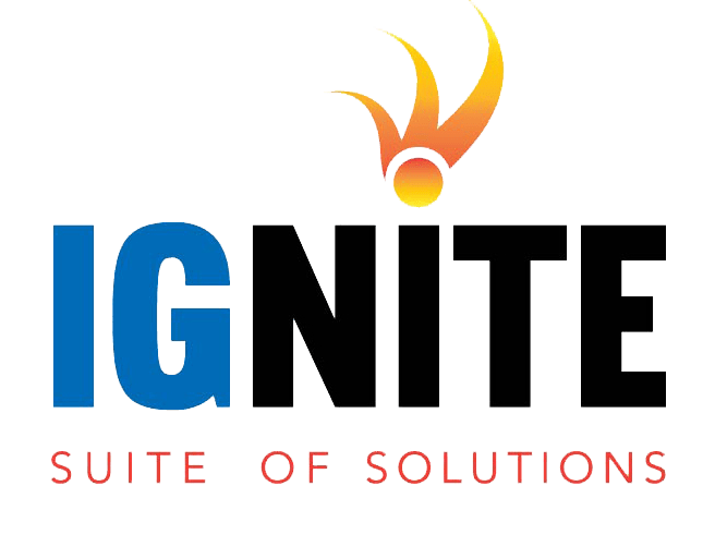 The Ignite Software Suite logo. Fuel Oil Management Software and Propane Management Software by Blue Cow Software.