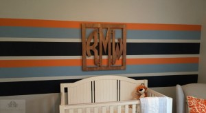 Calvin and Hobbes Themed Nursery, Statement Wall, Nursery Decor, Blue Crab Interiors, www.bluecrabinteriors.com