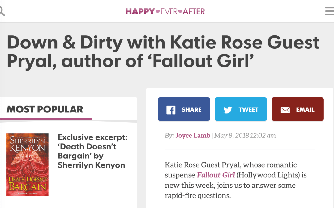 Read Katie Pryal's interview in USA Today with FALLOUT GIRL