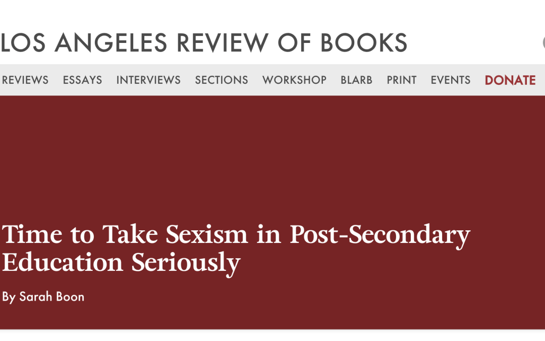 Congrats SEXISM ED and Kelly J. Baker