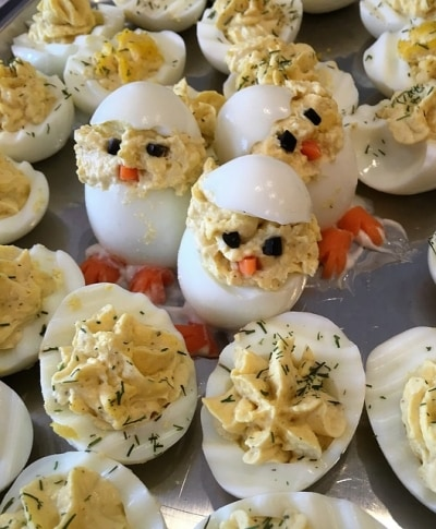 Good Way to Keep Deviled Eggs Cold at an Outdoor Party