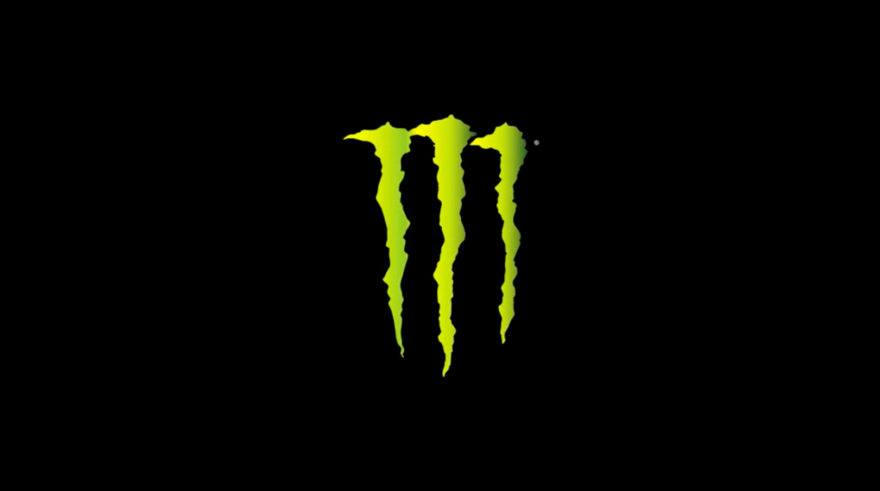 Monster Energy logo with green claw