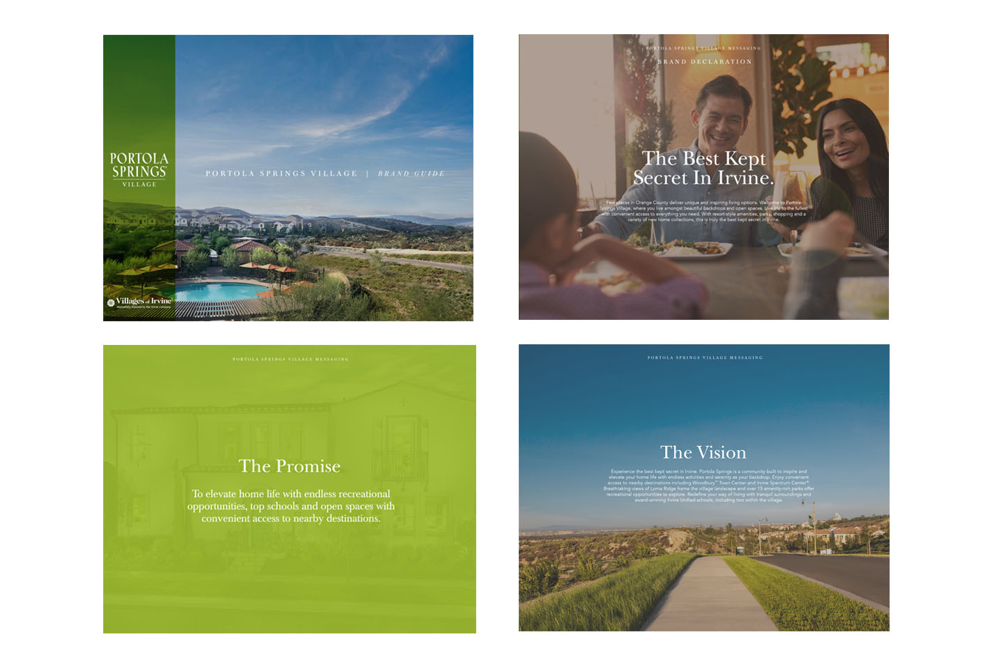 Orange County residential land development with family photos promise and vision