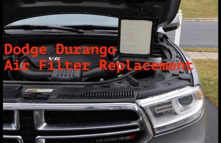 Air Filter replacement DODGE DURANGO 2013-UP Worcester Massachusetts 2018