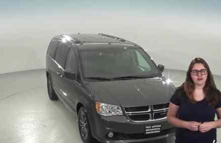 Used, 2017, Dodge Grand Caravan, SXT, Passenger Mini Van, Gray, For Sale -A95382TR Near Millis 2054 MA