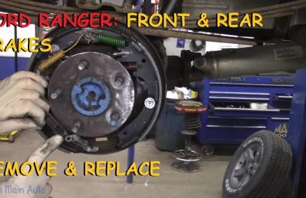 Ford Ranger: Full Brake Job w/ Rear Drum Brakes at Los Angeles 90094 CA