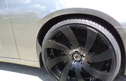 24″ lux12 with 255-30-24 on Dodge charger spiked lugnuts ulohos Local Area 21263 Baltimore MD