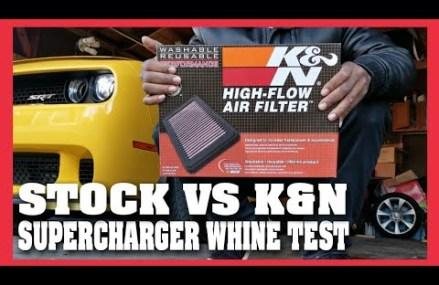 K&N DROP IN VS STOCK AIR FILTER HELLCAT SUPER CHARGER WHINE COMPARISON From 66834 Alta Vista KS