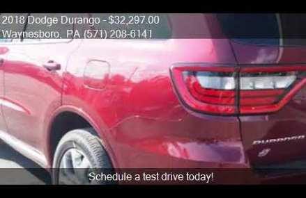 2018 Dodge Durango  for sale in Waynesboro, PA 17268 at BUCH Aurora Colorado 2018