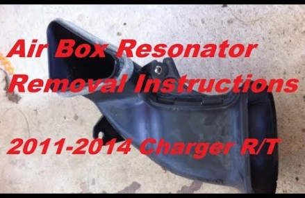 Air Box Resonator (Silencer) Removal 2011-2014 Dodge Charger R/T (Non Road and Track) Now at 46704 Arcola IN