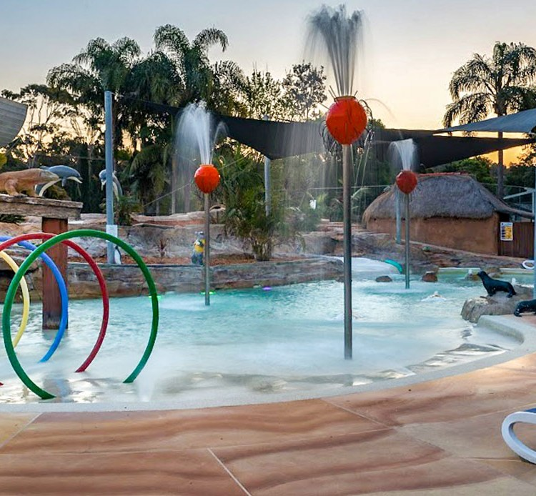 Kids water park and water slides