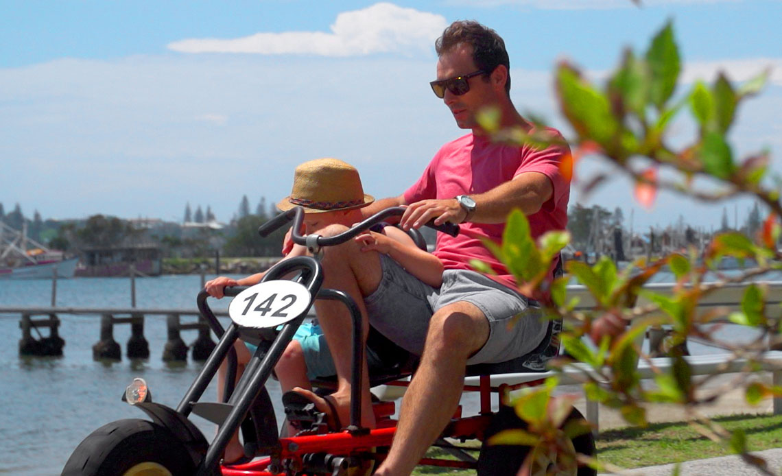 Hire equipment, boats, SUP boards, go karts, bicycles in Yamba