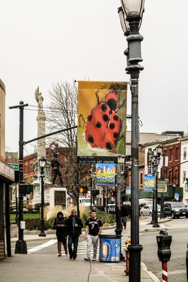 Yonkers Public Art Banners Blue Door Center