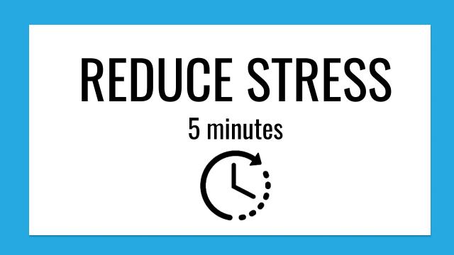 5 minute Reduce Stress Meditation