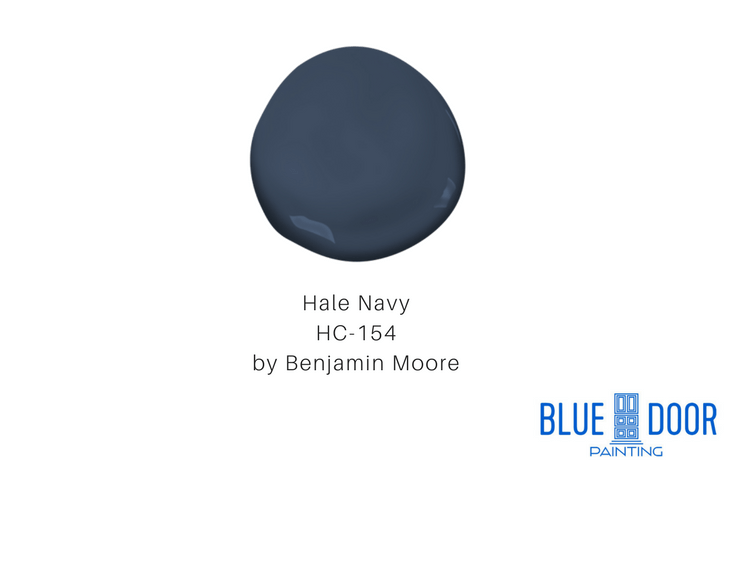 Hale Navy HC-154 Benjamin Moore Blue Door Painting Chicago