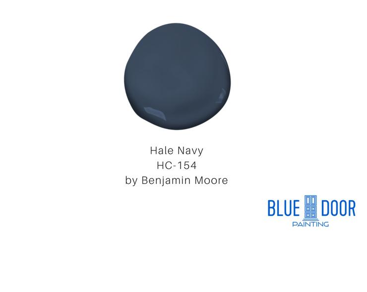 Hale Navy HC-154 Benjamin Moore Blue Door Painting Chicago