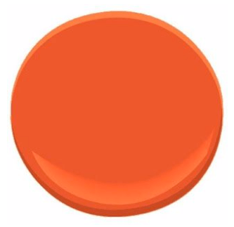 Benjamin Moore Orange Nectar