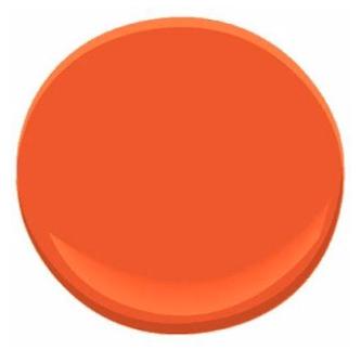 Benjamin Moore Orange Nectar