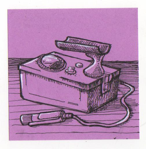 Post-It Note Illustration - Geiger Counter