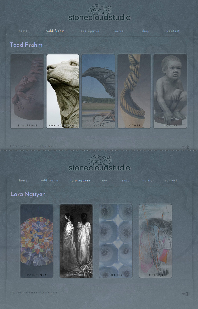 Web Design for Stone Cloud Studio