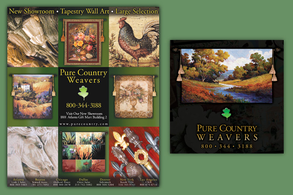 Ads for Pure Country Weavers NC