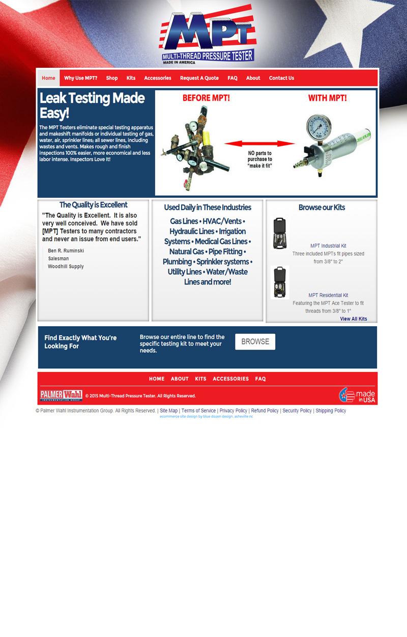 Web Design for Palmer Wahl MPT