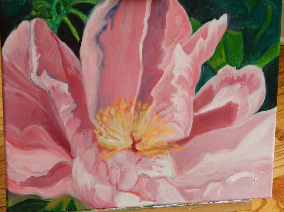 Peony Flower, oil on canvas, 2016
