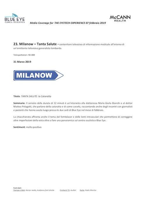 milanow – tanta salute 31 marzo 2019