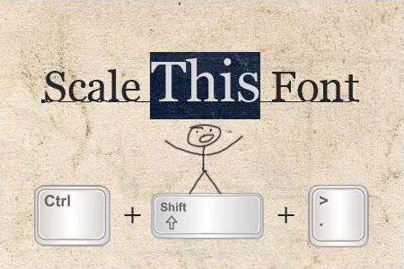 scale font