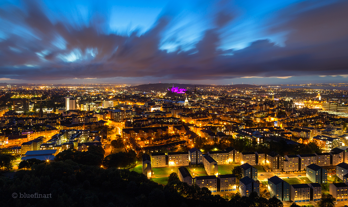 Image result for edinburgh at night