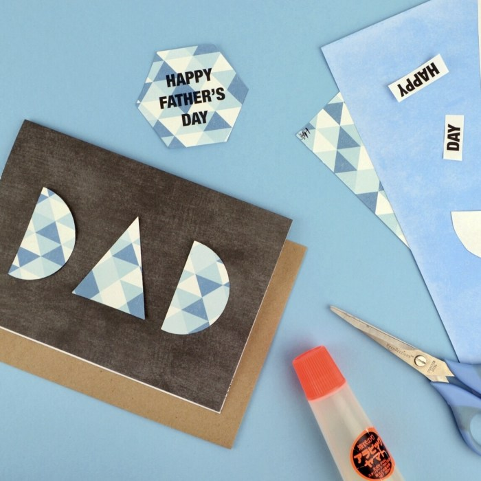 DIY Modern Geometric Father's Day Cards