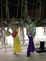 70's themed dancers