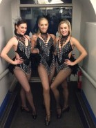 3 Black and silver showgirls